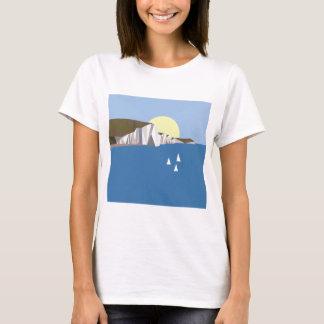 Verão branco dos penhascos camiseta