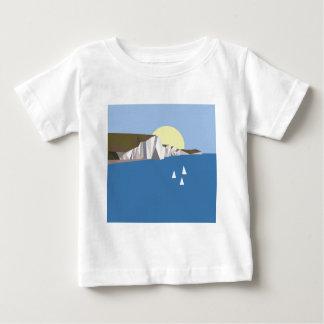 Verão branco dos penhascos camiseta para bebê