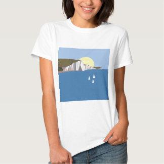 Verão branco dos penhascos tshirts