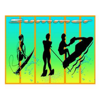 Verão - cartão dos esportes de água