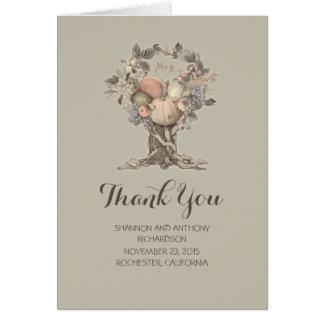 verão - cartões de agradecimentos do casamento da