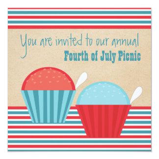 Verão divertimento partido convite do 4 de julho