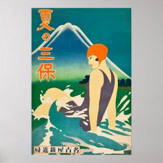 Verão do vintage no viagem da península de Miho Poster