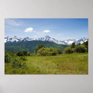 Verão em montanhas do San Juan de Colorado Posters