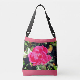 Verão no tote. cor-de-rosa bonito da flor da flor bolsas carteiro