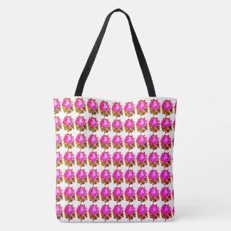 Verão-Rosa-Floral-Vintage-Vívido--Os bolsas--As Bolsas Tote