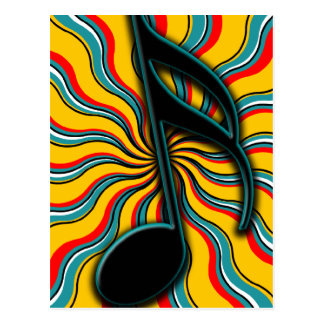 Verão Semiquaver - 16o símbolo de música da nota Cartoes Postais