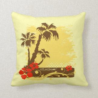 Verão tropical travesseiro de decoração