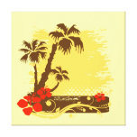Verão tropical impressão de canvas esticada