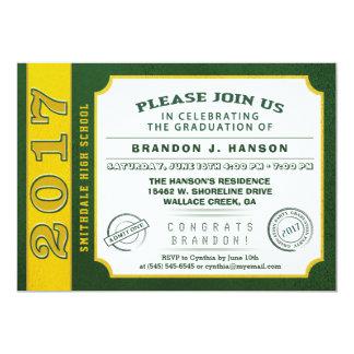 Verde 2017 & convite da graduação do bilhete do