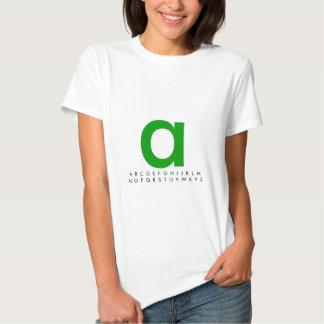 Verde A do alfabeto Tshirt