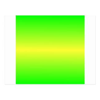 Verde amarelo e elétrico elétrico horizontal cartão postal