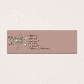 Verde azeitona do KRW e cartão de visita