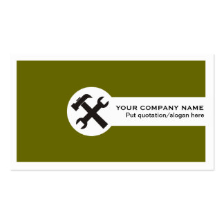 Verde azeitona dos cartões de indústria da modelo cartão de visita
