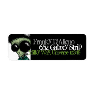Verde azeitona preta estrangeira de Frankenstein Etiqueta Endereço De Retorno