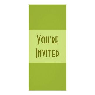 Verde azeitona simples convite personalizado