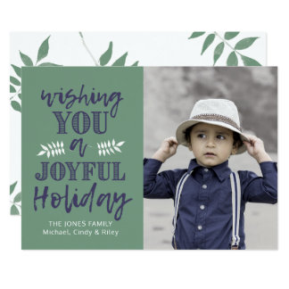 Verde & azuis marinhos do cartão com fotos   do