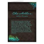Verde azul de turquesa do folheto dos termas do cartão comemorativo