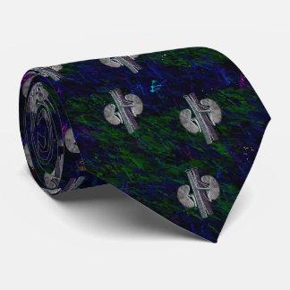 Verde azul do design artística original do laço do gravata