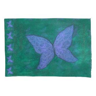 Verde azul roxo apaixonado | da borboleta da cama