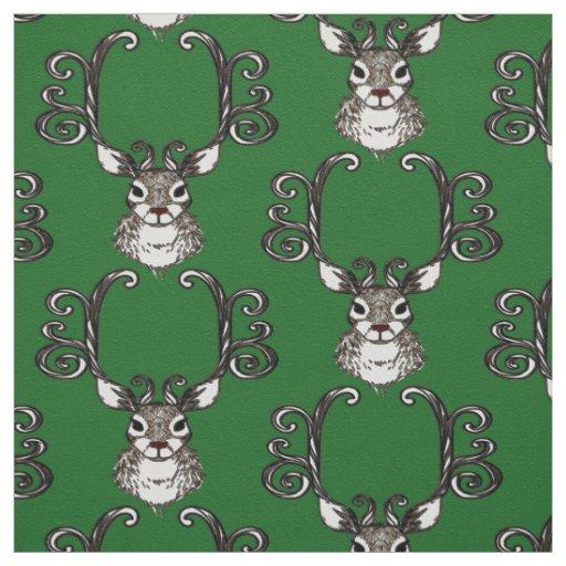 Verde bonito do tecido da casa de campo dos cervos