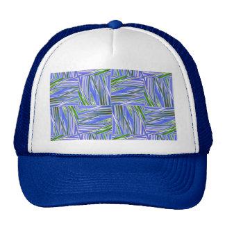 verde checkered azul criativo bonés