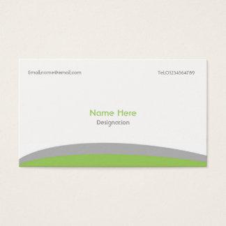 Verde & cinza simples do cartão de negócio