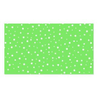 Verde-claro com teste padrão de pontos branco cartão de visita