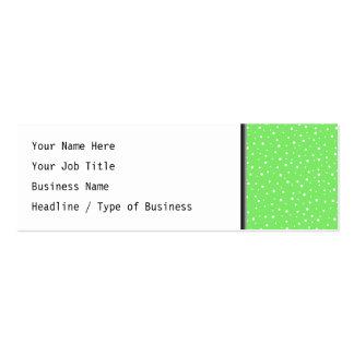 Verde-claro com teste padrão de pontos branco cartão de visita skinny