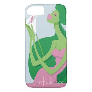 Verde com capa de telefone da inveja