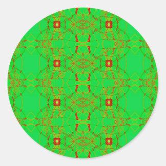 verde com laço vermelho adesivo