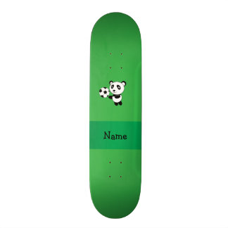 Verde conhecido personalizado da panda do futebol shape de skate 21,6cm