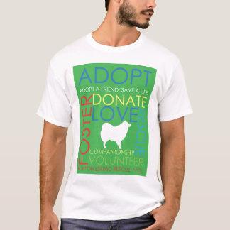 Verde da camisa do design do salvamento de Eskie