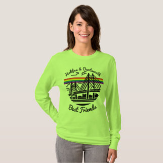 Verde da camisa dos melhores amigos de Halifax