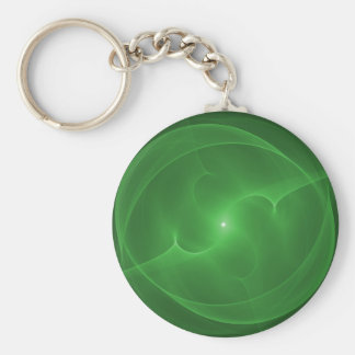 Verde da esfera da energia chaveiro