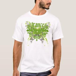 Verde da folha do Trance Camiseta