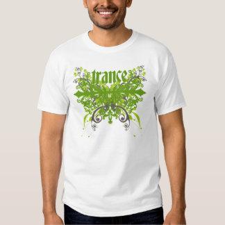 Verde da folha do Trance T-shirt