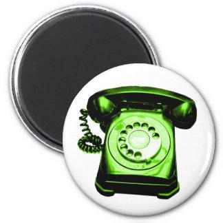 Verde da linha de apoio ao cliente ímã redondo 5.08cm