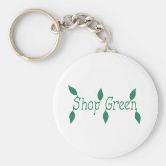 Verde da loja chaveiro