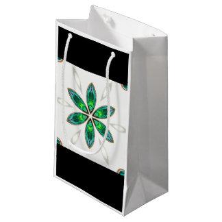 Verde das flores sacola para presentes pequena