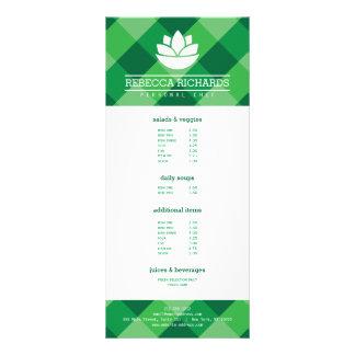 Verde de abastecimento saudável do menu dos 10.16 x 22.86cm panfleto
