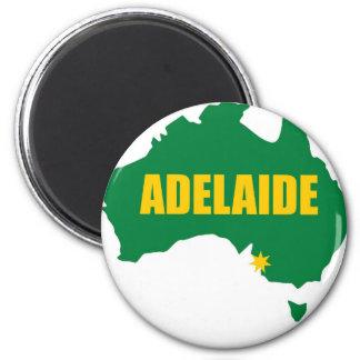 Verde de Adelaide e mapa do ouro Ímã Redondo 5.08cm