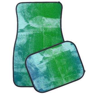 Verde de azul-céu Ombre da noite Tapete Automotivo