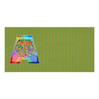 Verde de brilho n NumberONE AAA da pele do dragão Cartão Com Foto