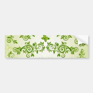 verde de COM formas de caracol em do padrão Adesivo