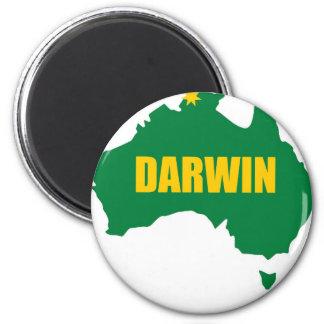Verde de Darwin e mapa do ouro Ímã Redondo 5.08cm