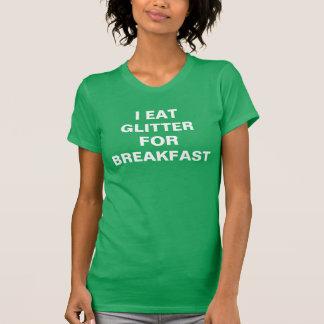 Verde de Kelly das mulheres eu como o brilho para Tshirt