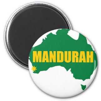 Verde de Mandurah e mapa do ouro Ímã Redondo 5.08cm