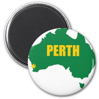 Verde de Perth e mapa do ouro Ímã Redondo 5.08cm
