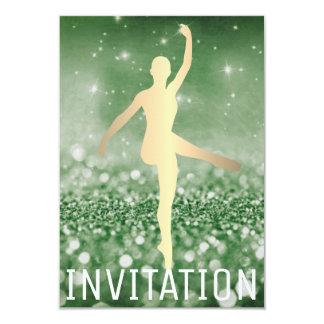 Verde de Piruette Cali do dançarino do salão de Convite 8.89 X 12.7cm